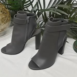 Vince Ankle Strap Boots Size 7